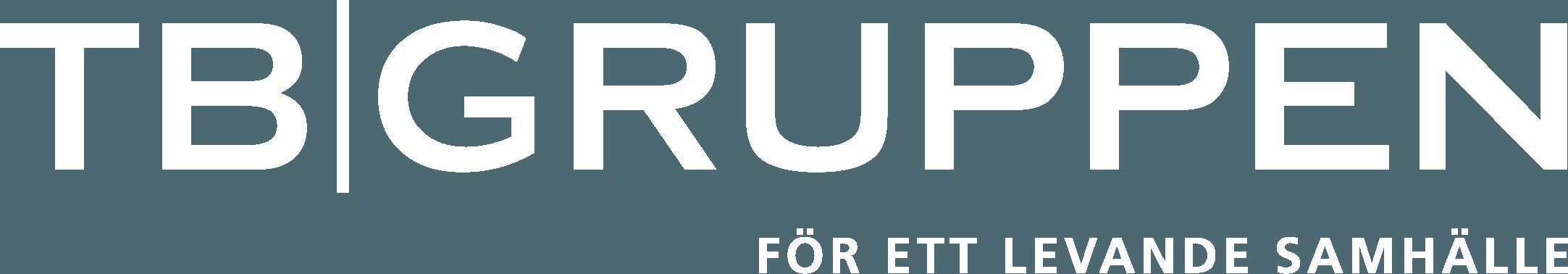 TB-Gruppen Liggande logotyp Vit